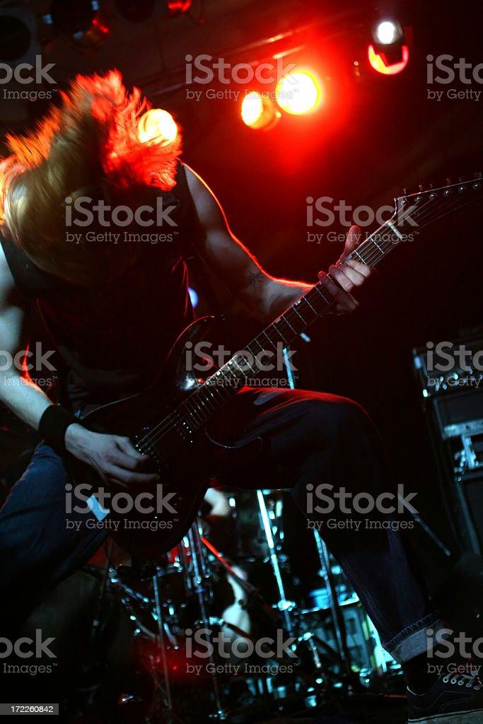 Rocking guitarist royalty-free stock photo