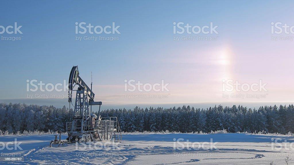 rocking oil royalty-free stock photo
