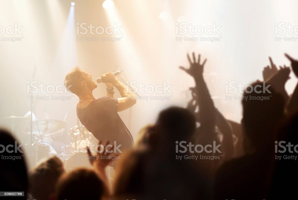 Rocking out! stock photo