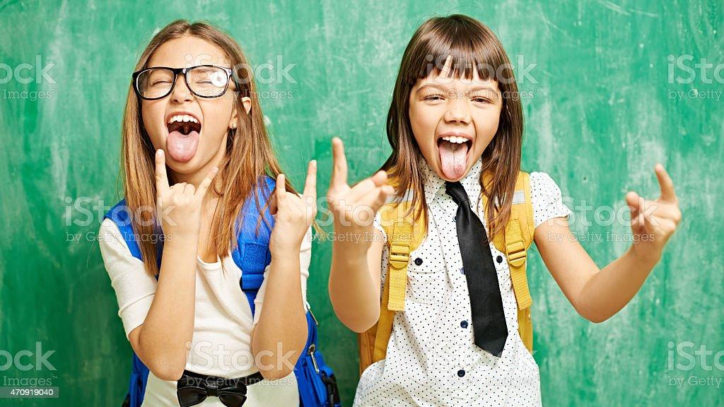 Rocking school stock photo