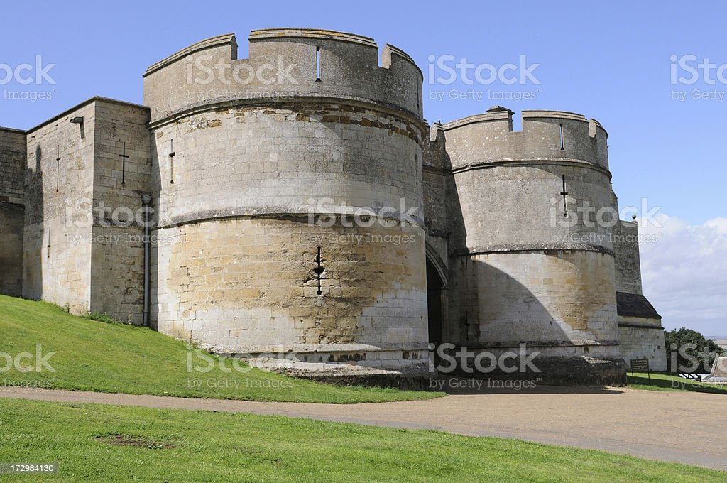 Rockingham Castle Gateway stock photo