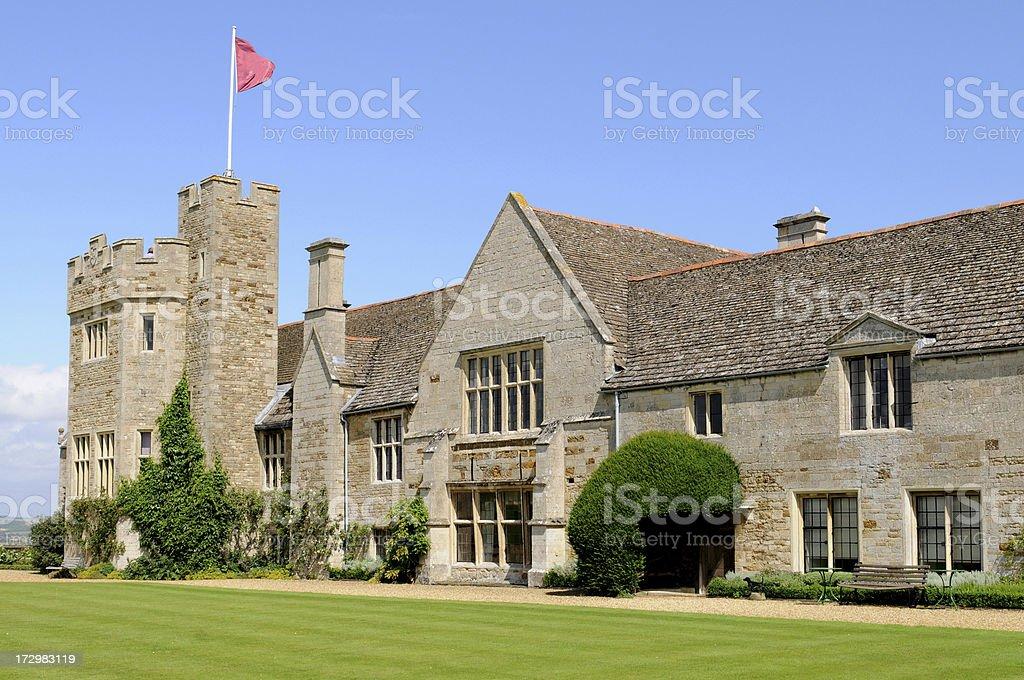 Rockingham Castle Lawn stock photo