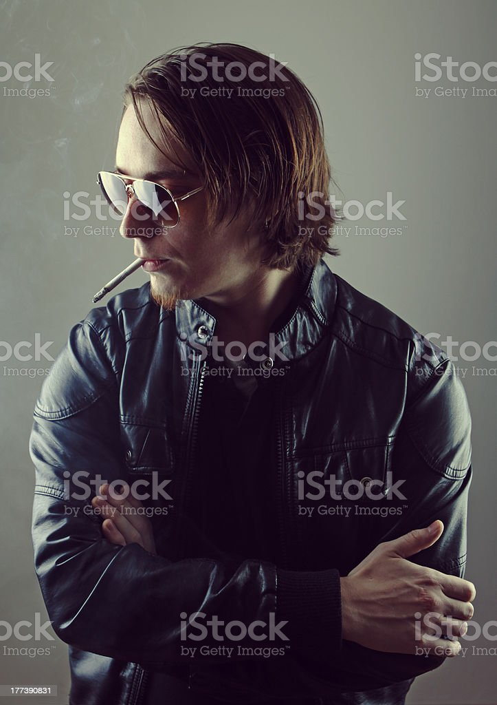 Rockin?smoker stock photo