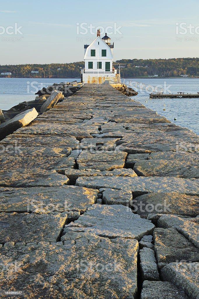 Rockland Breakwater Light royalty-free stock photo