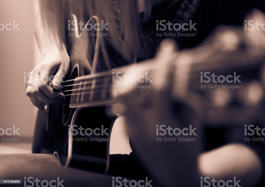 Rockman Guitar Player stock photo