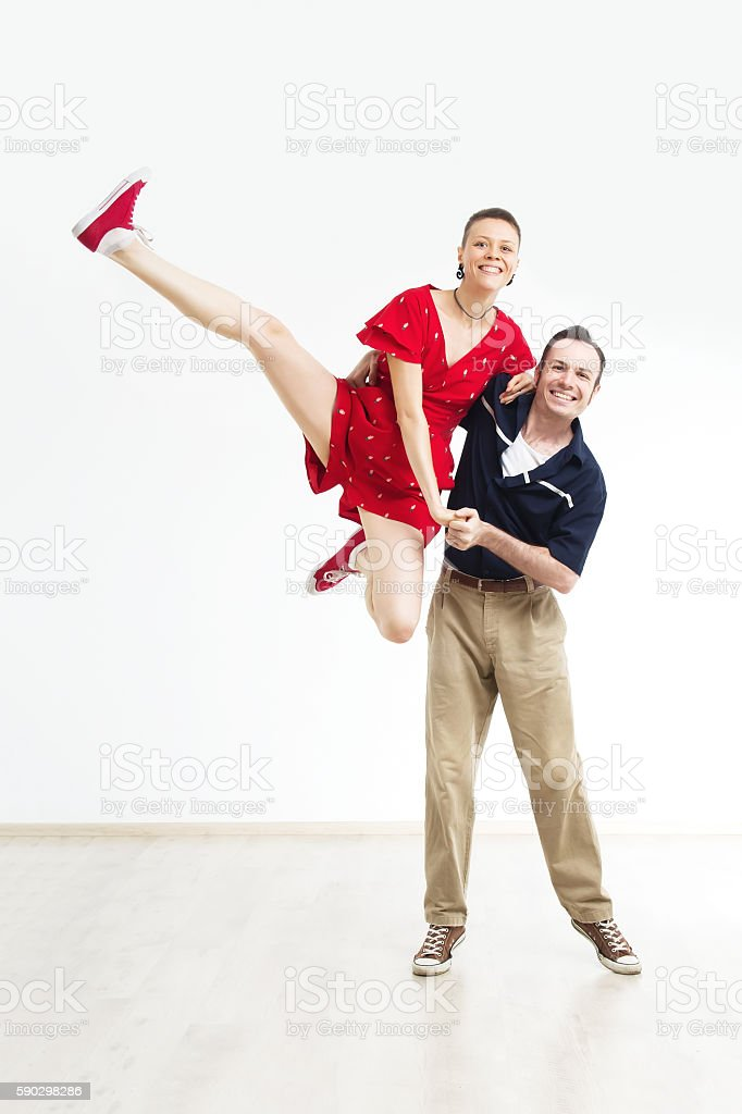 rock'n'roll dance boogie woogie stock photo