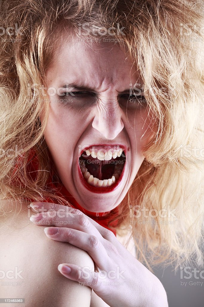 Rock'n'roll woman shouting royalty-free stock photo