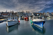 Rockport Fishing Boats Under a Winter Sky