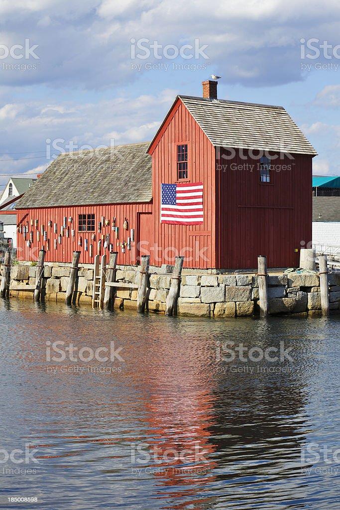 Rockport Fishing Shack royalty-free stock photo