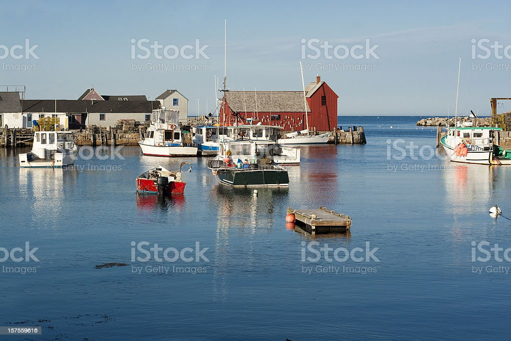 Rockport Harbor, Massachusets stock photo