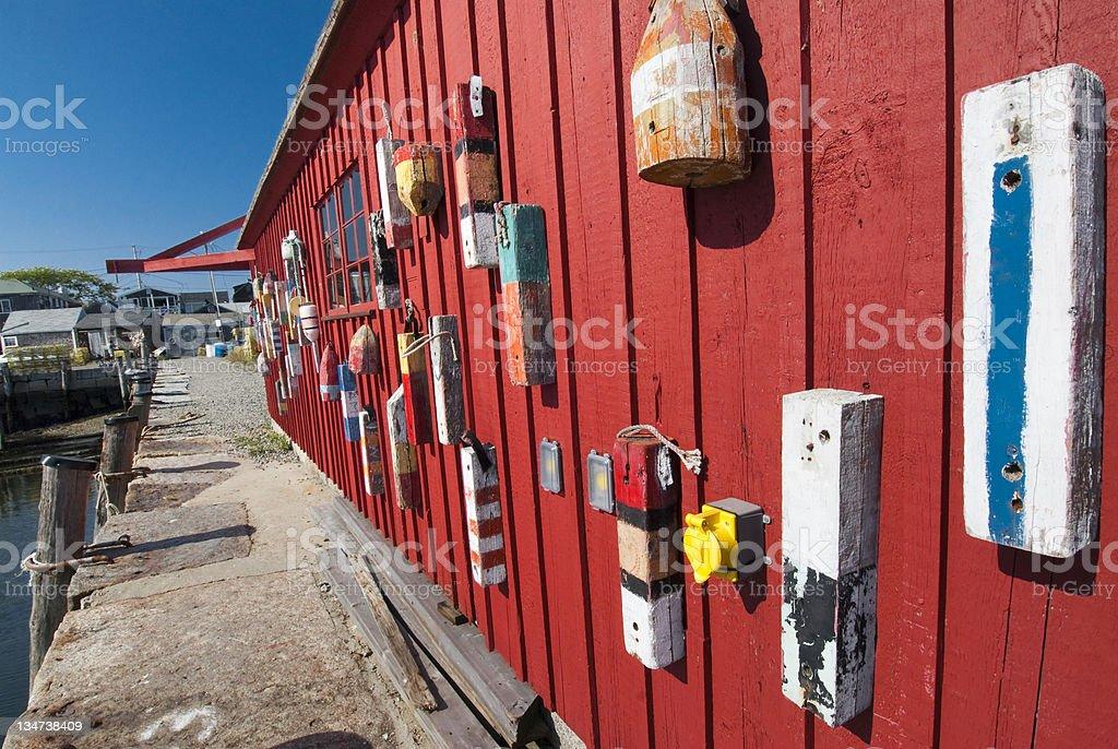 Rockport Massachusettes buoys royalty-free stock photo