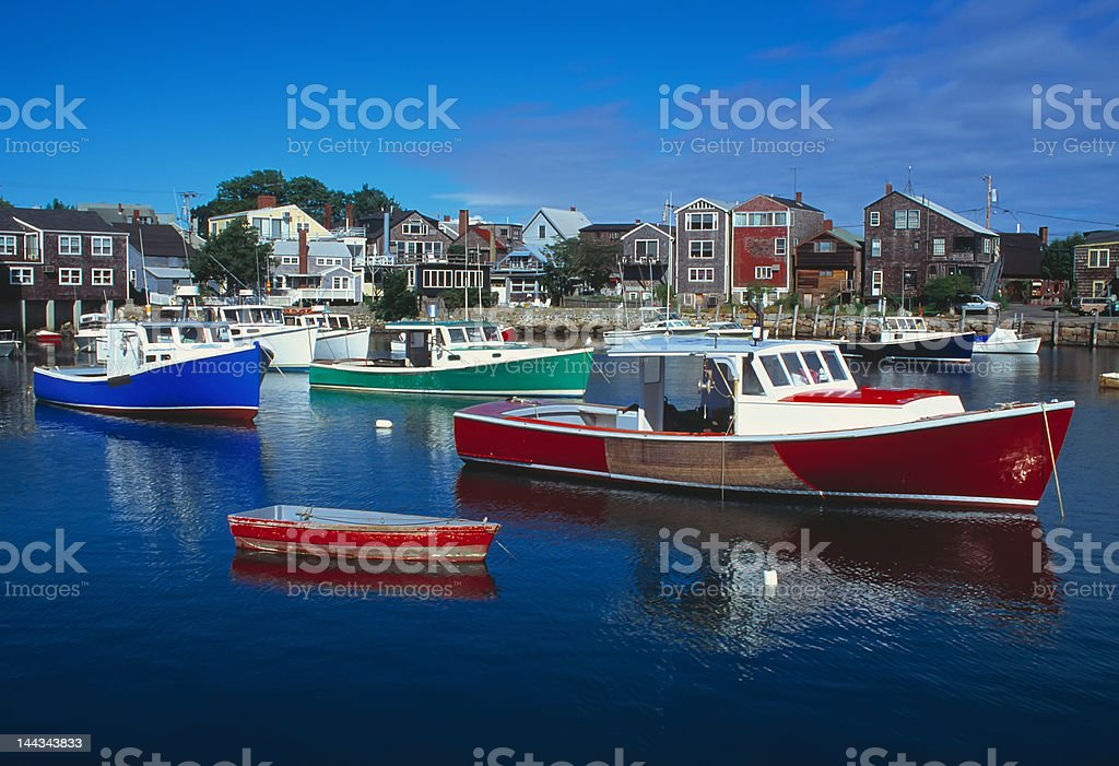 Rockport Massachusetts Harbour royalty-free stock photo