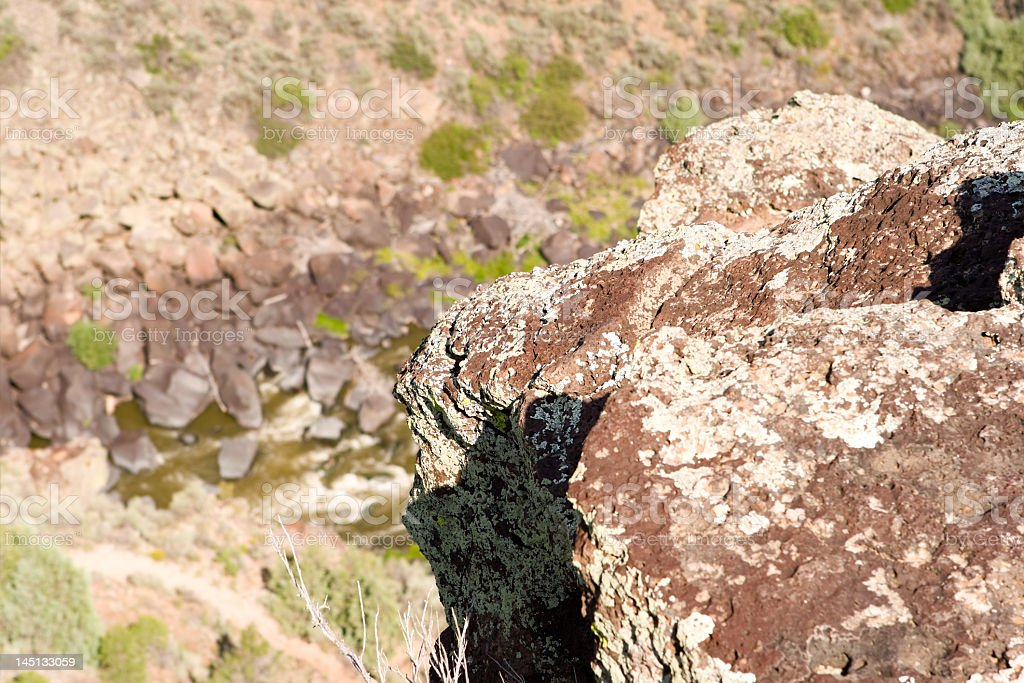 Rocks above Rio Grande River Gorge New Mexico, Terminator Salvation royalty-free stock photo