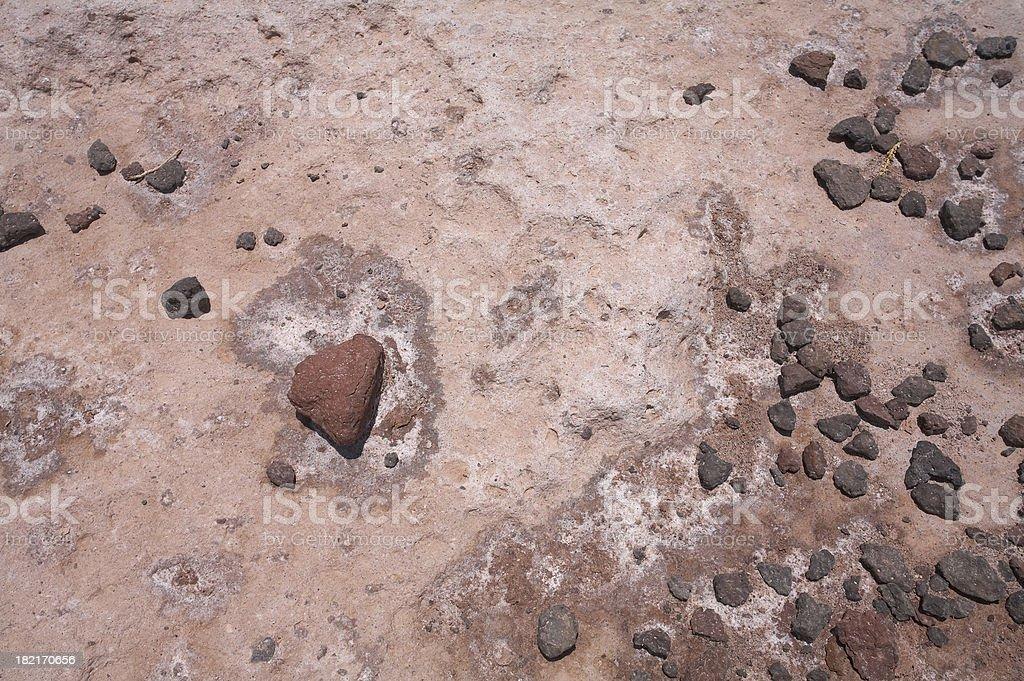 Rocks & Salt detail in Salar de Atacama - Chile stock photo