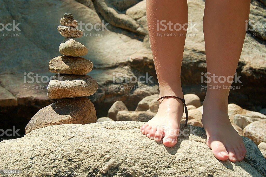 Rocks and Feet stock photo