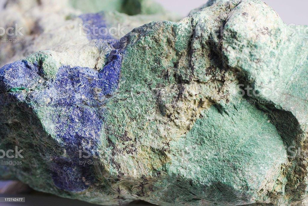 Rocks and Minerals - Azurite, Malachite stock photo