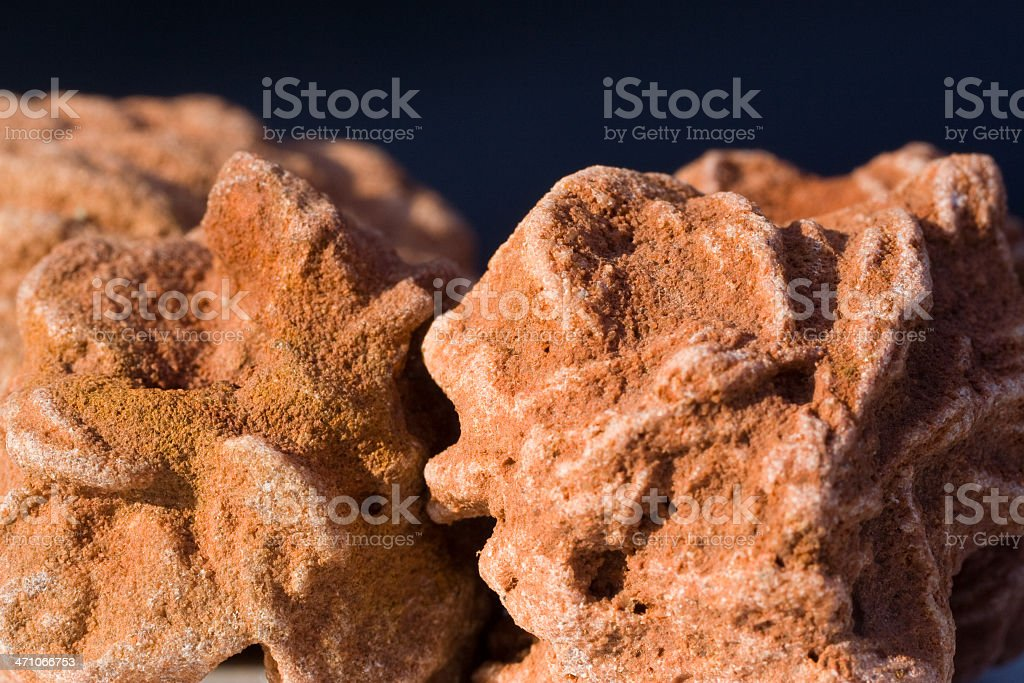 Rocks and MInerals - Barite 'Rose' stock photo