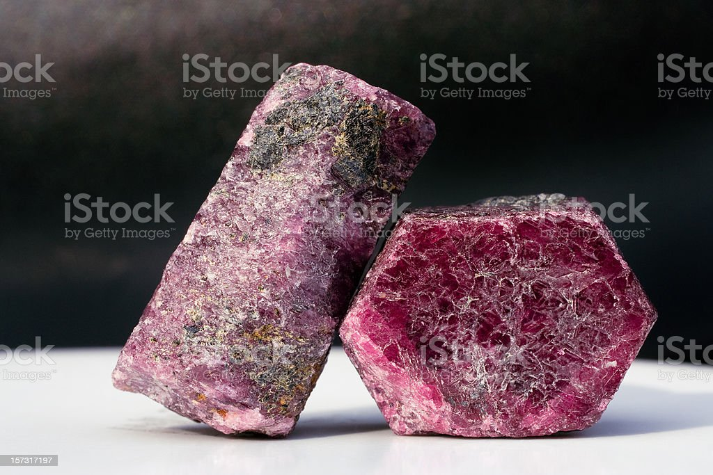 Rocks and Minerals - Corundum Ruby stock photo