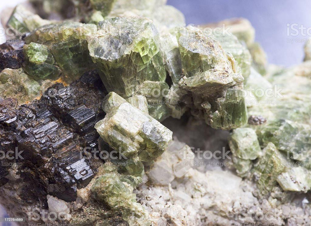 Rocks and Minerals - Diopside with Vesuvianite stock photo