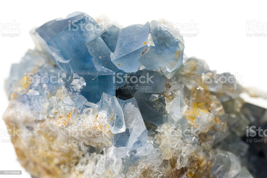 Rocks and Minerals - Fluorite Barite royalty-free stock photo