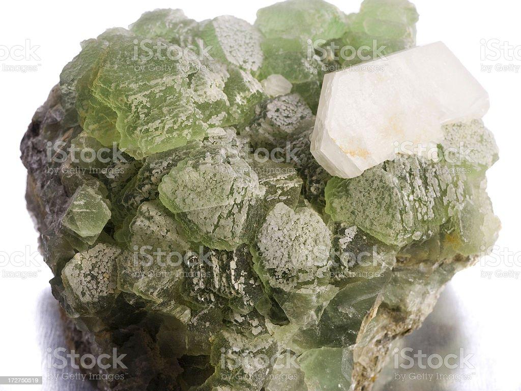 Rocks and Minerals - Fluorite, Calcite stock photo