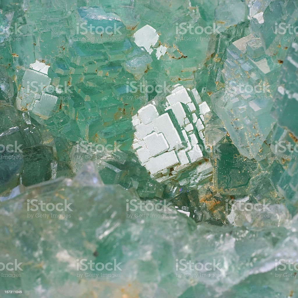 Rocks and Minerals - Fluorite royalty-free stock photo