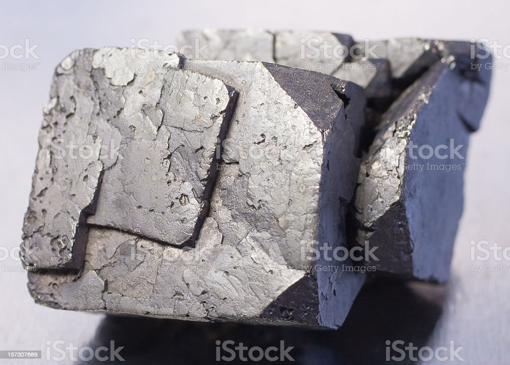 Rocks and Minerals - Galena royalty-free stock photo