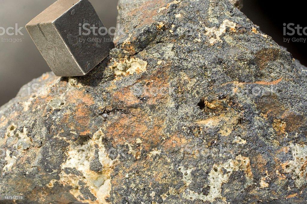 Rocks and Minerals - Magnatite (Lodestone) stock photo