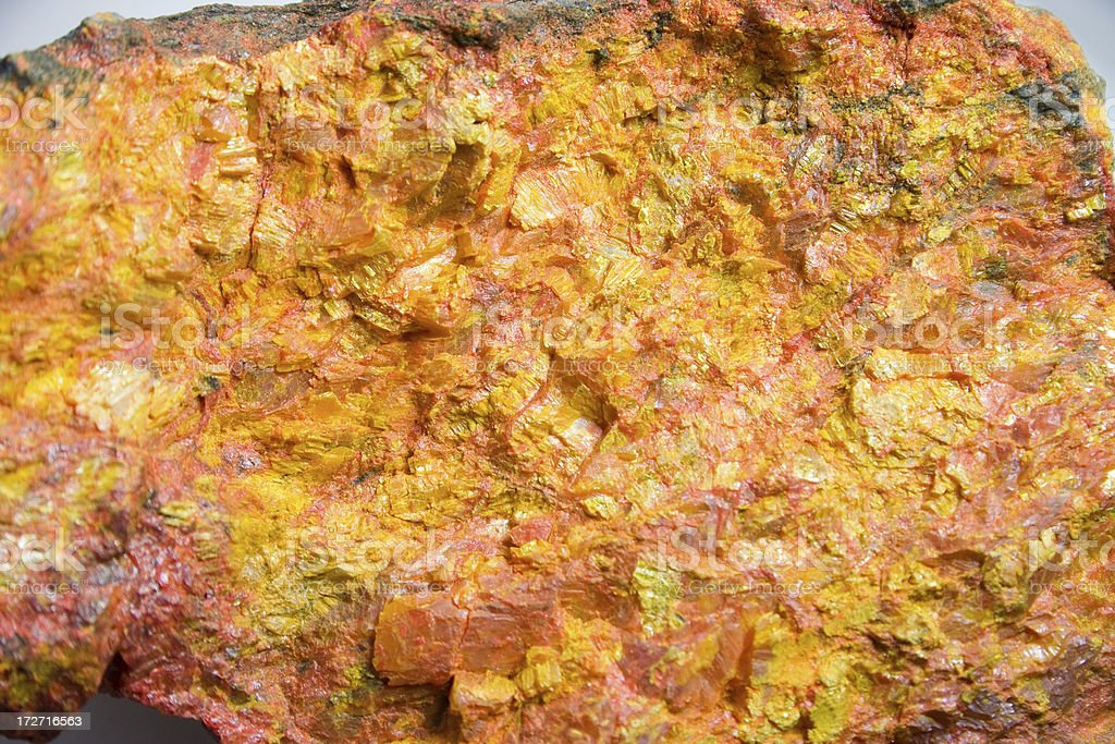 Rocks and Minerals - Orpiment stock photo