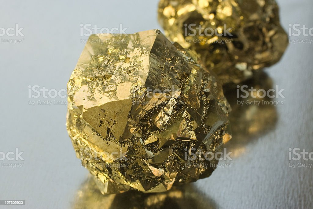 Rocks and Minerals - Pyrite royalty-free stock photo