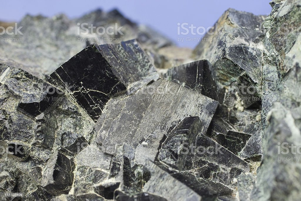 Rocks and Minerals - Pyroxene royalty-free stock photo