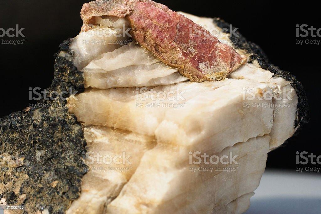 Rocks and MInerals - Rhodonite stock photo