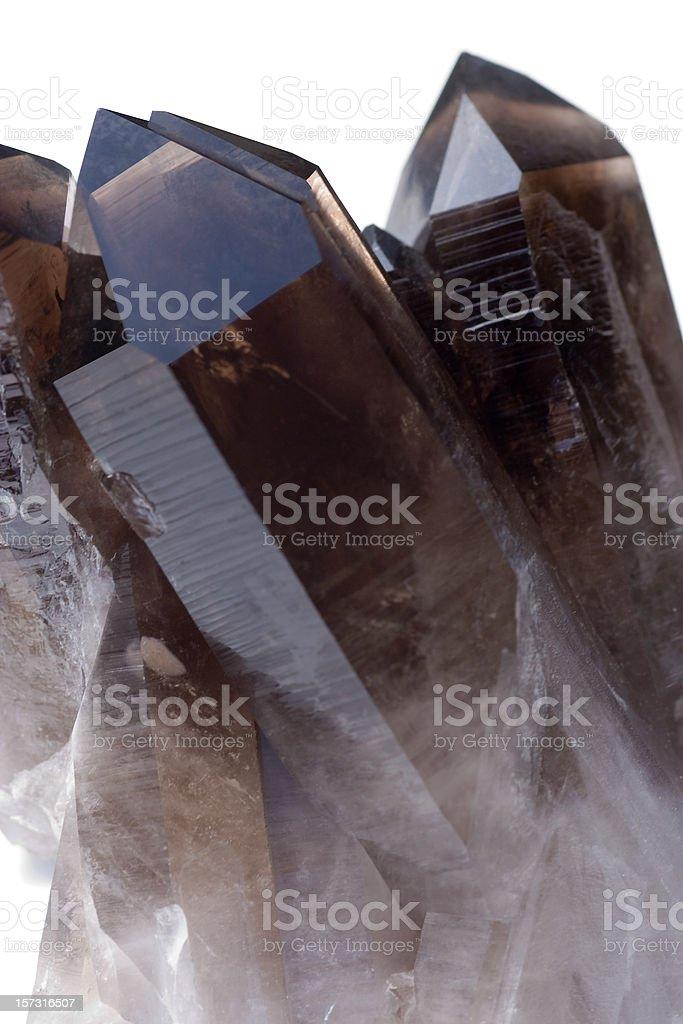 Rocks and Minerals - Smokey Quartz (Irradiated) stock photo