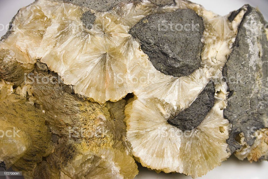 Rocks and Minerals - Stilbite royalty-free stock photo