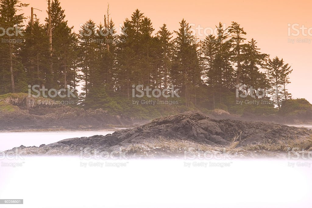 Rocks and Mist royalty-free stock photo