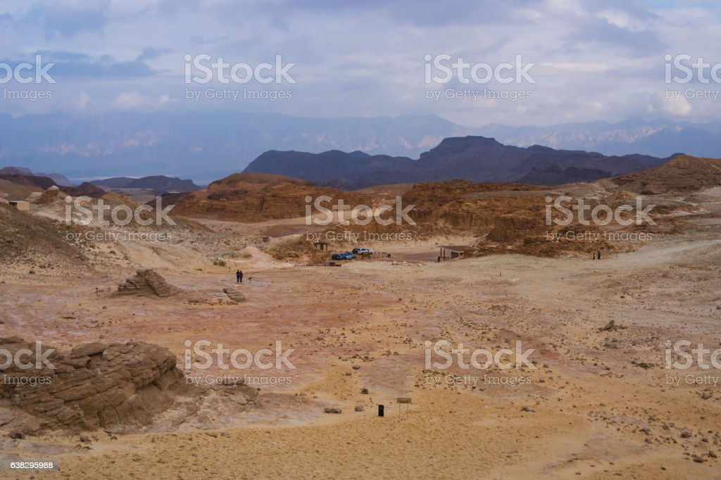 Rocks and mountains in the timna park in Israel stock photo