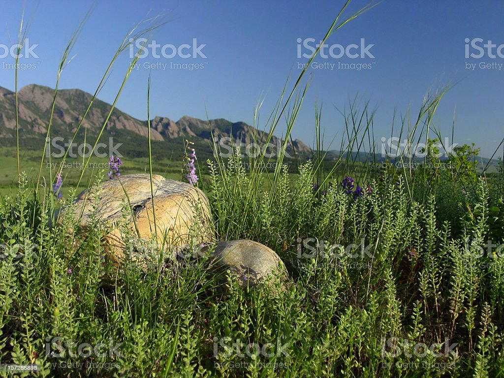 rocks and mountains royalty-free stock photo