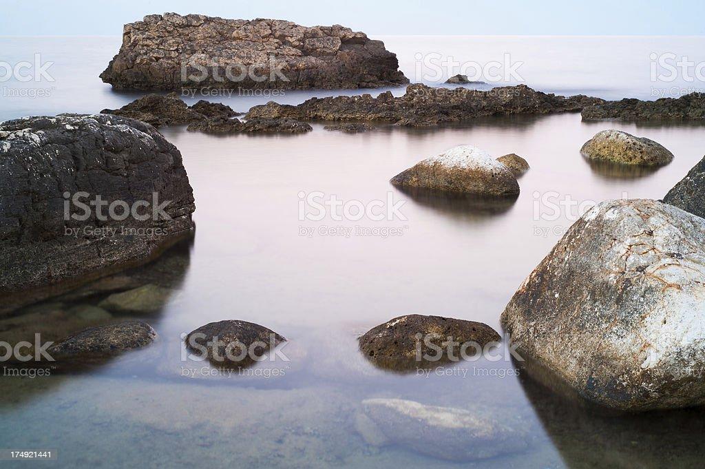 Rocks and sea - Apulia stock photo