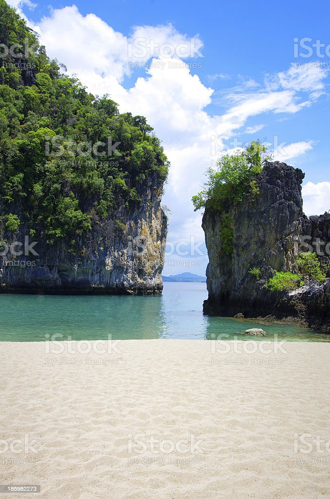 rocks and sea in Krabi royalty-free stock photo