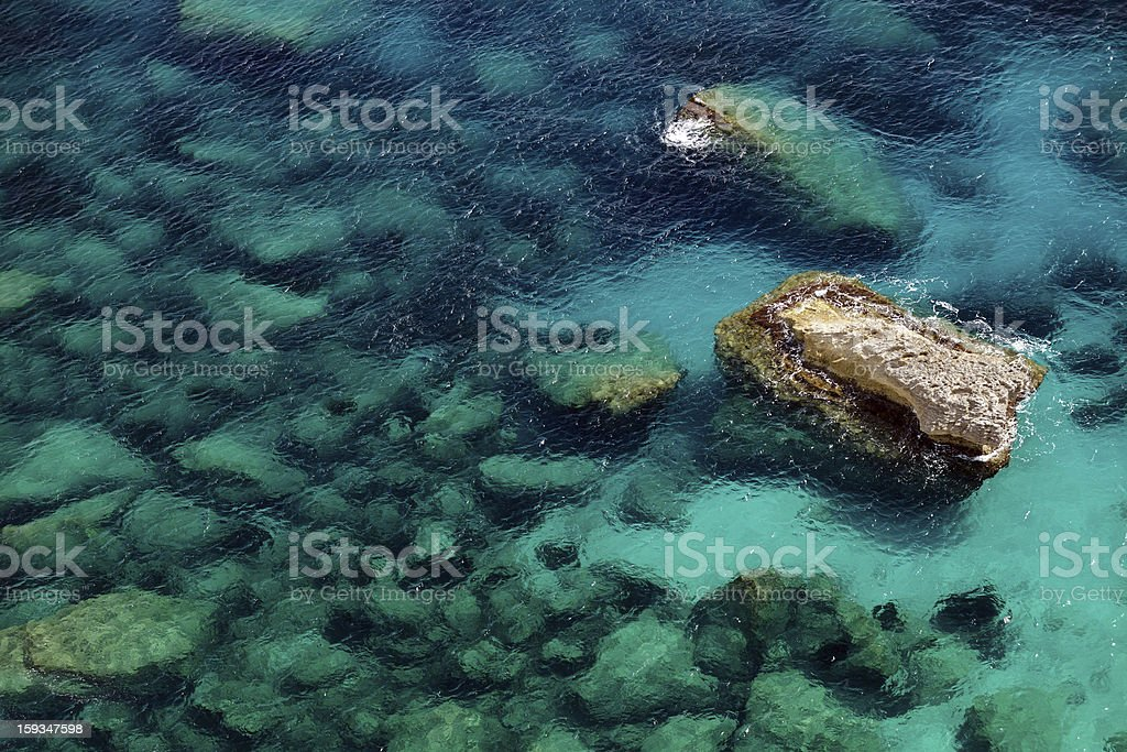 rocks and sea royalty-free stock photo