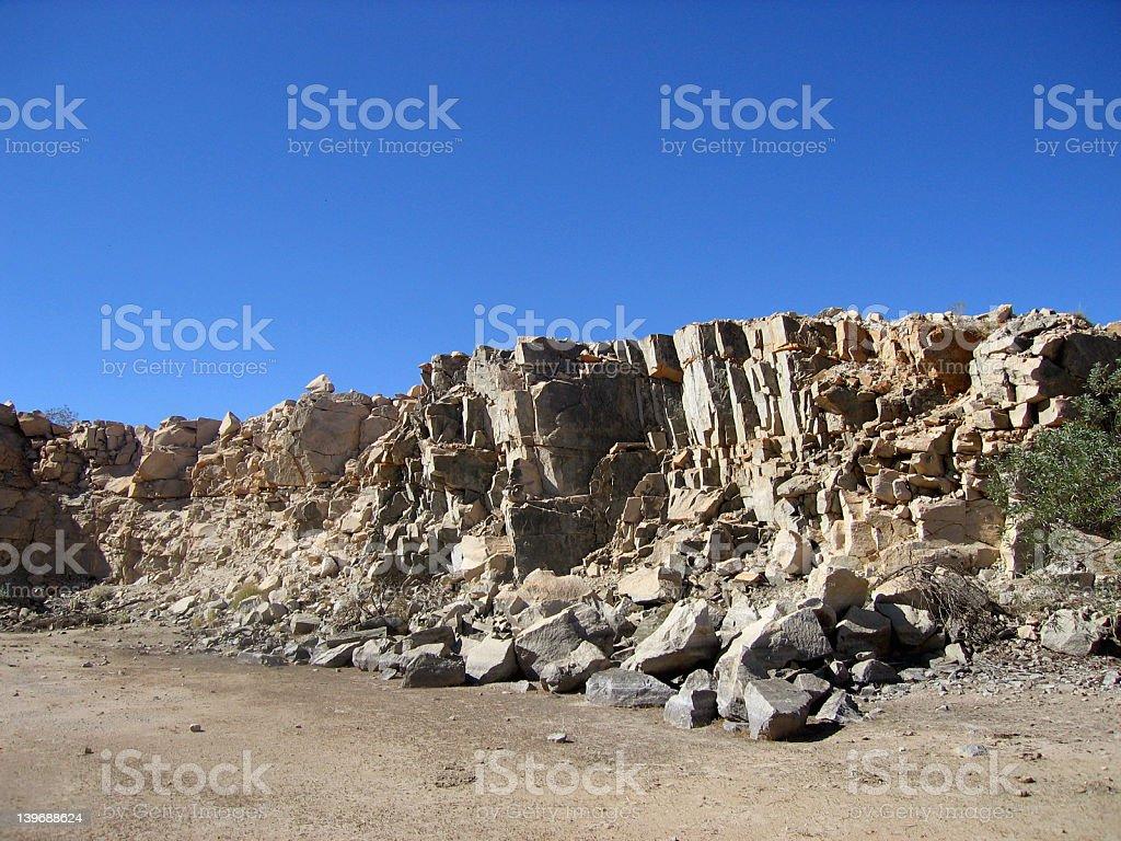 Rocks and Sky 05 royalty-free stock photo