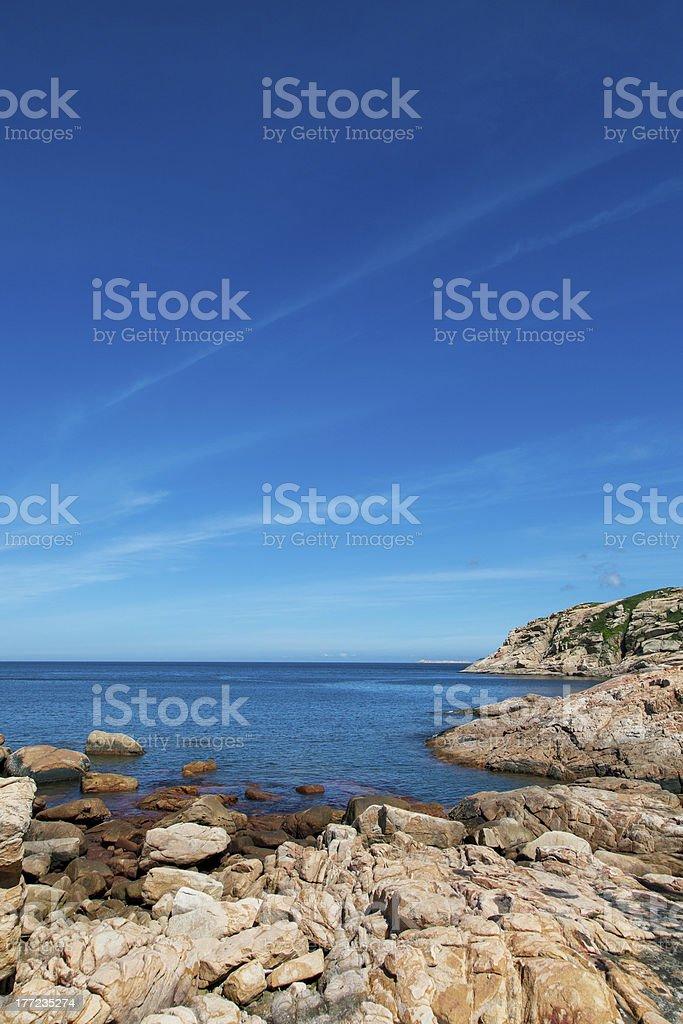 Rocas y el mar foto de stock libre de derechos