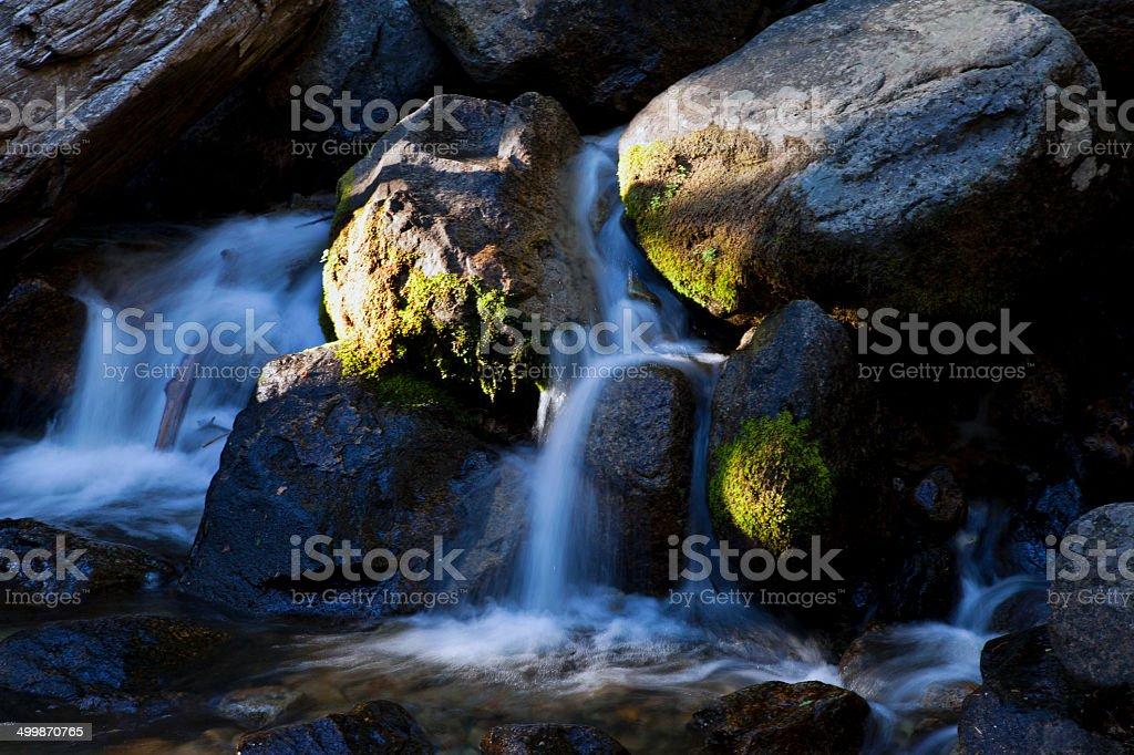 Rocks and Water Falls stock photo