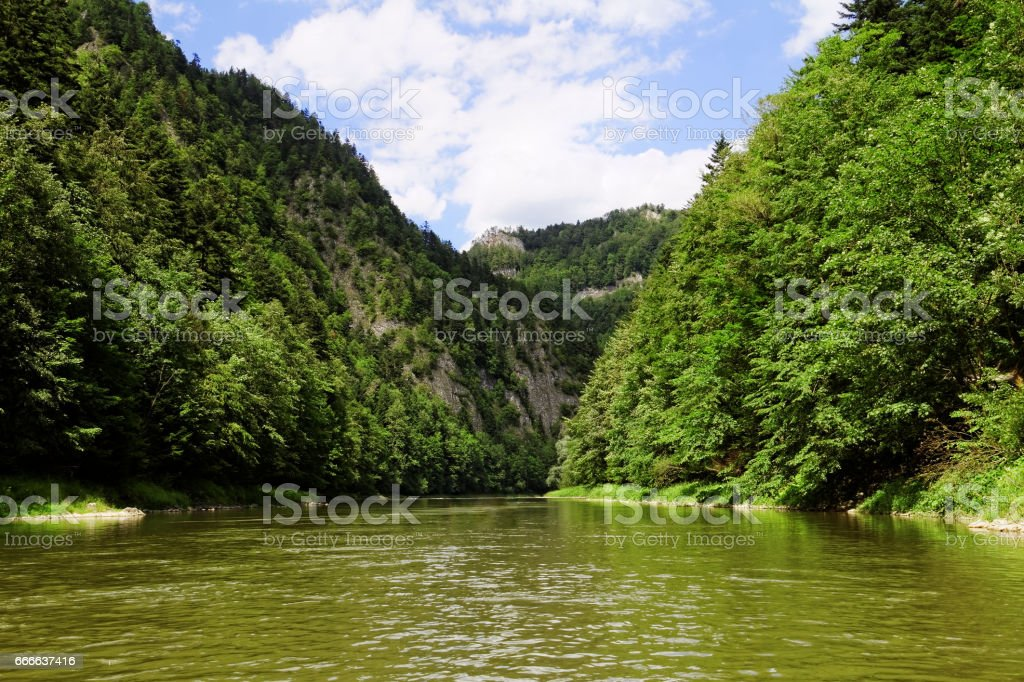 rocks and water in the mountains stock photo
