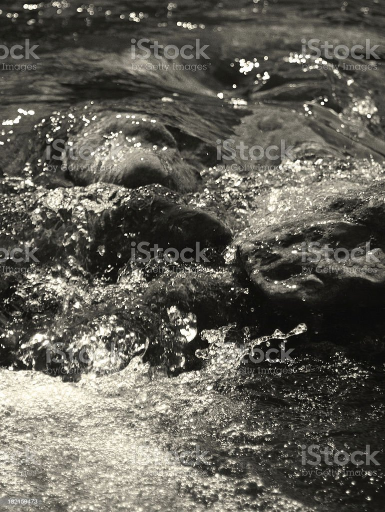 Rocks and water stock photo