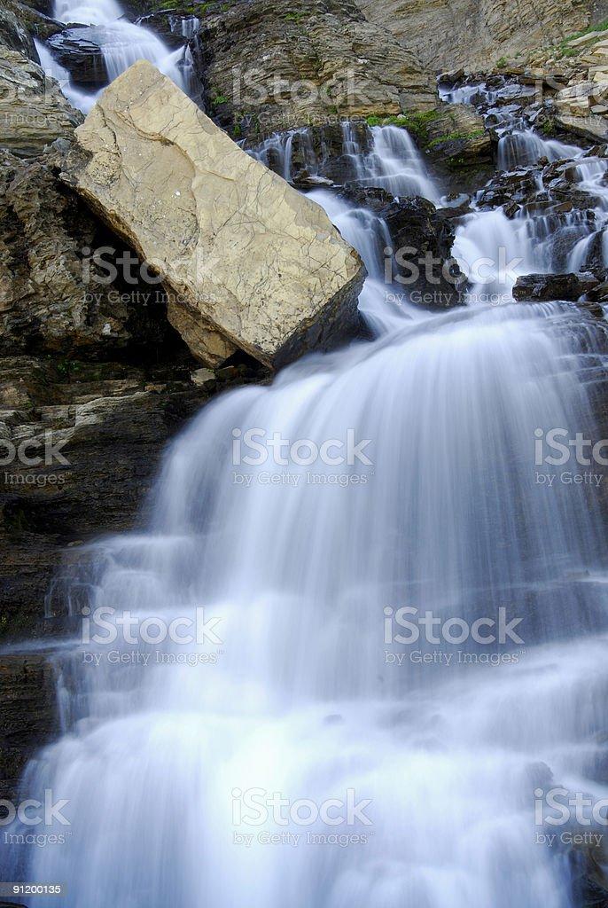 Rocks and Waterfalls royalty-free stock photo
