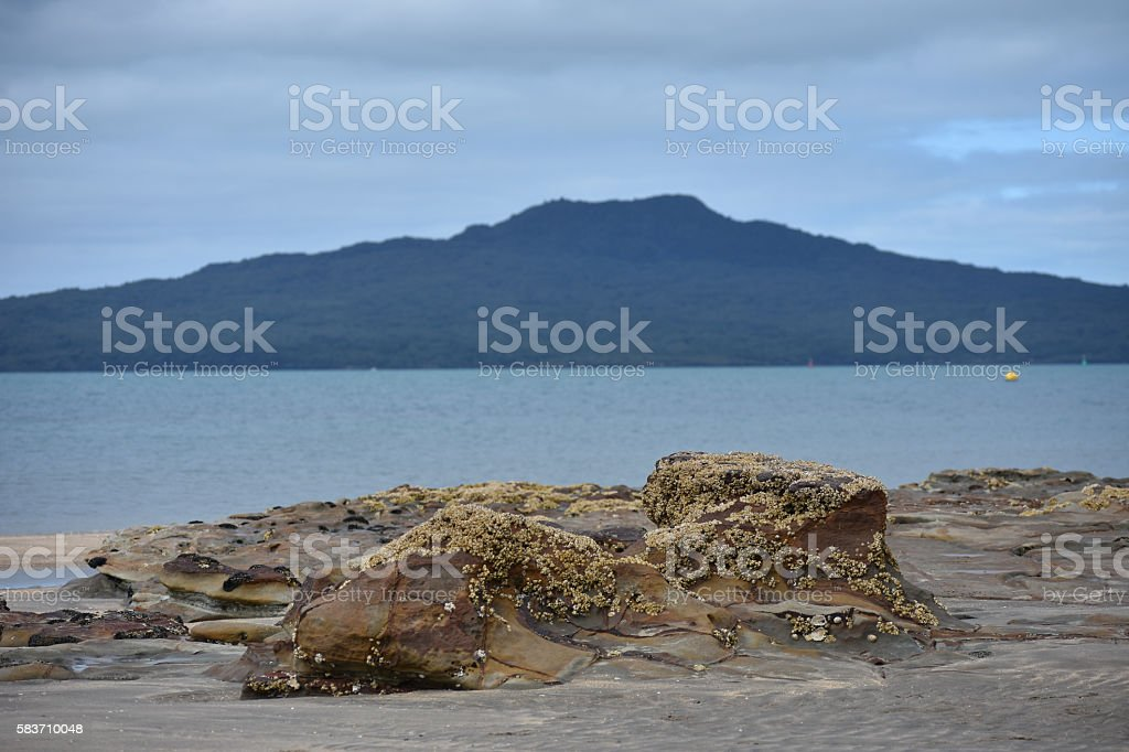 Rocks at low tide stock photo