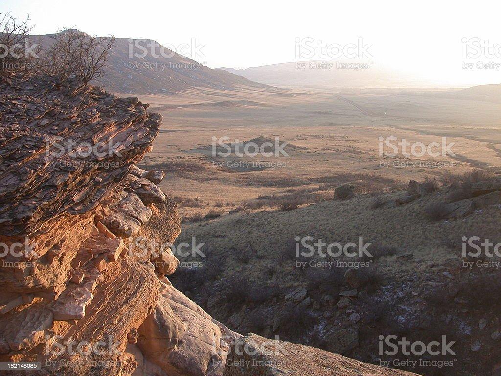 Rocks at Sunset royalty-free stock photo