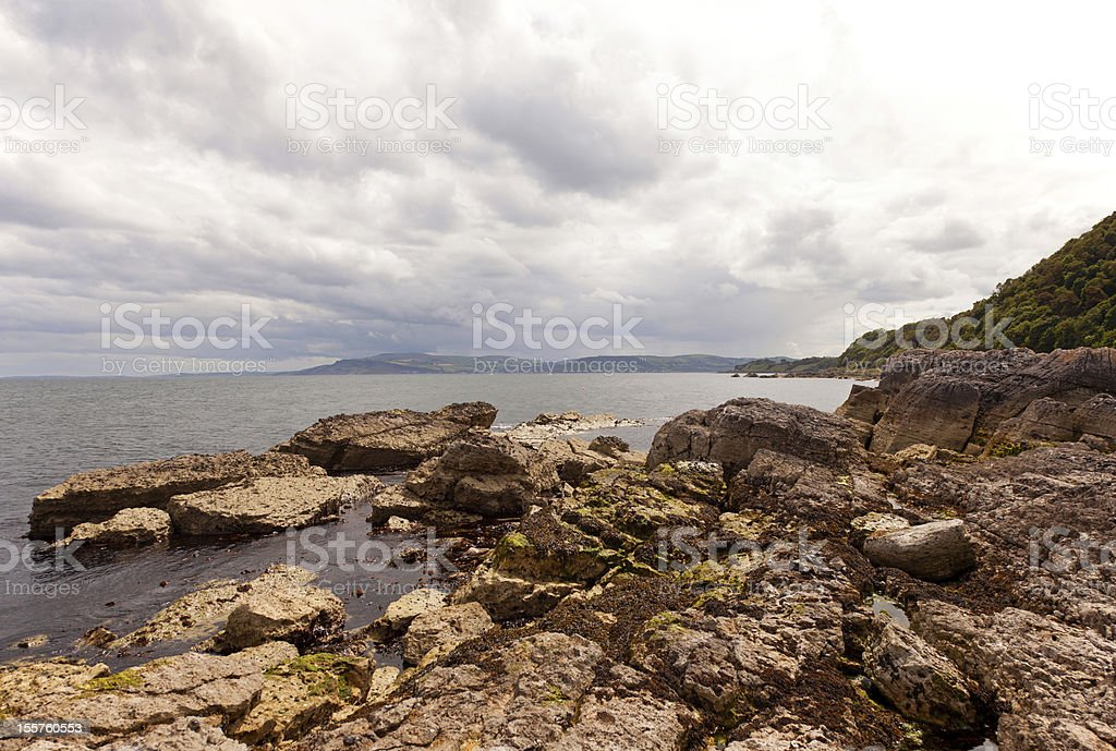 Rocks at the Atlantic Ocean in Ireland royalty-free stock photo