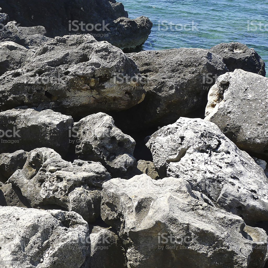 Rocks by the Sea royalty-free stock photo